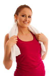 健康のために運動する女
