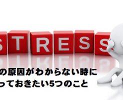 ストレスの原因がわからない時に知っておきたい5つ