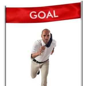 目標を達成したい男性